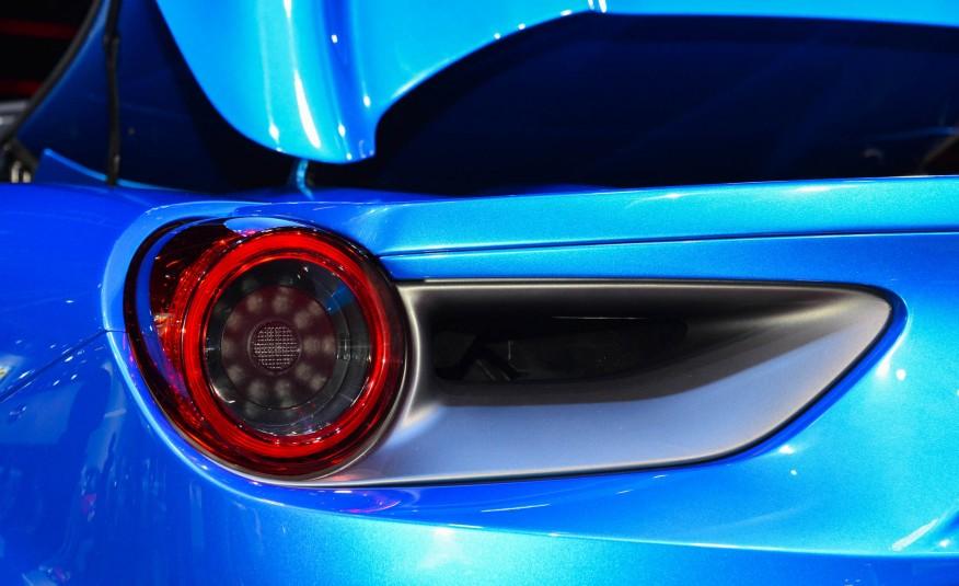 2016 Blue Ferrari 488 Spider Rear Light Closeup