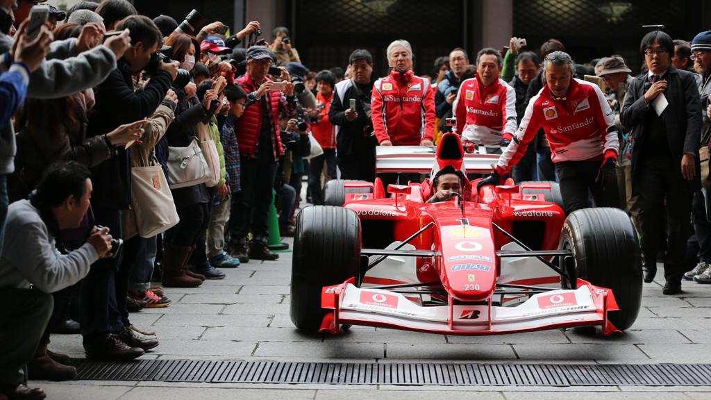 Ferrari F1 Racer In Osaka Japan