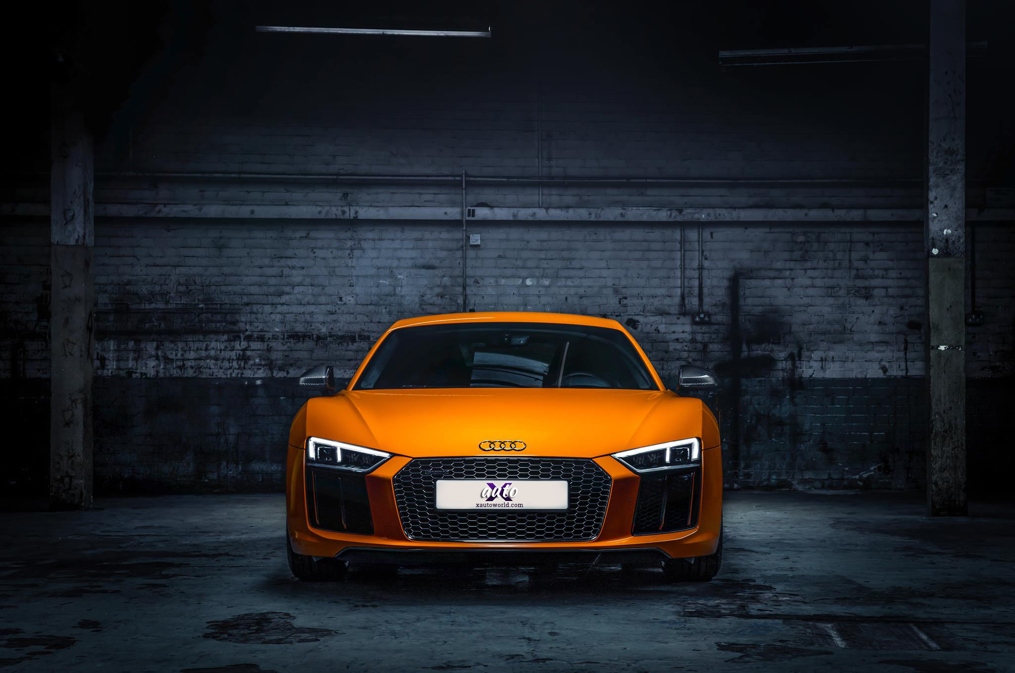 Audi R8 Orange Colour Hd Wallpapers X Auto