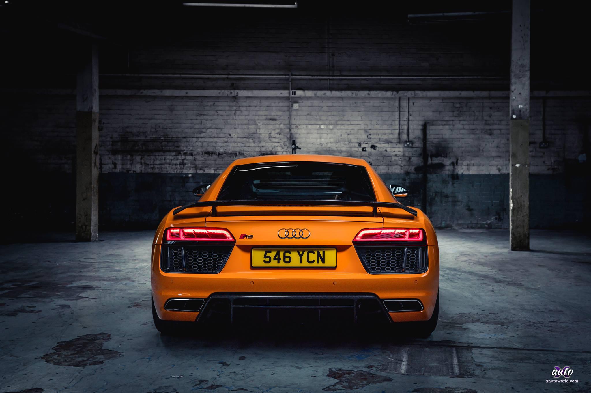 Audi R8 Orange Colour Hd Wallpapers X Auto