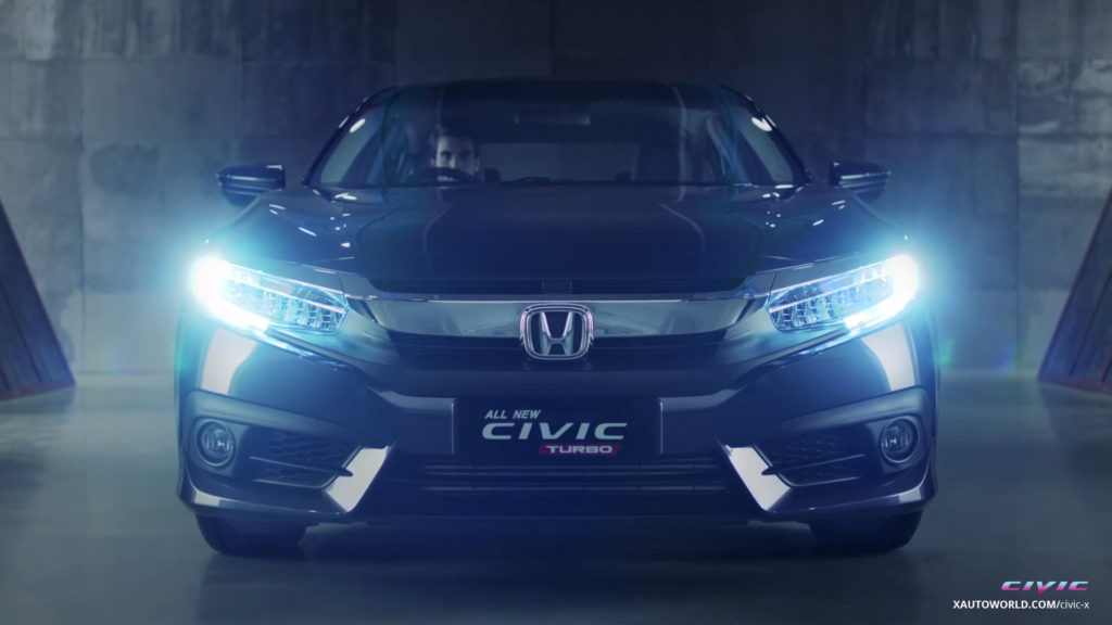 2016 Honda Civic Turb VTEC Front View At Night