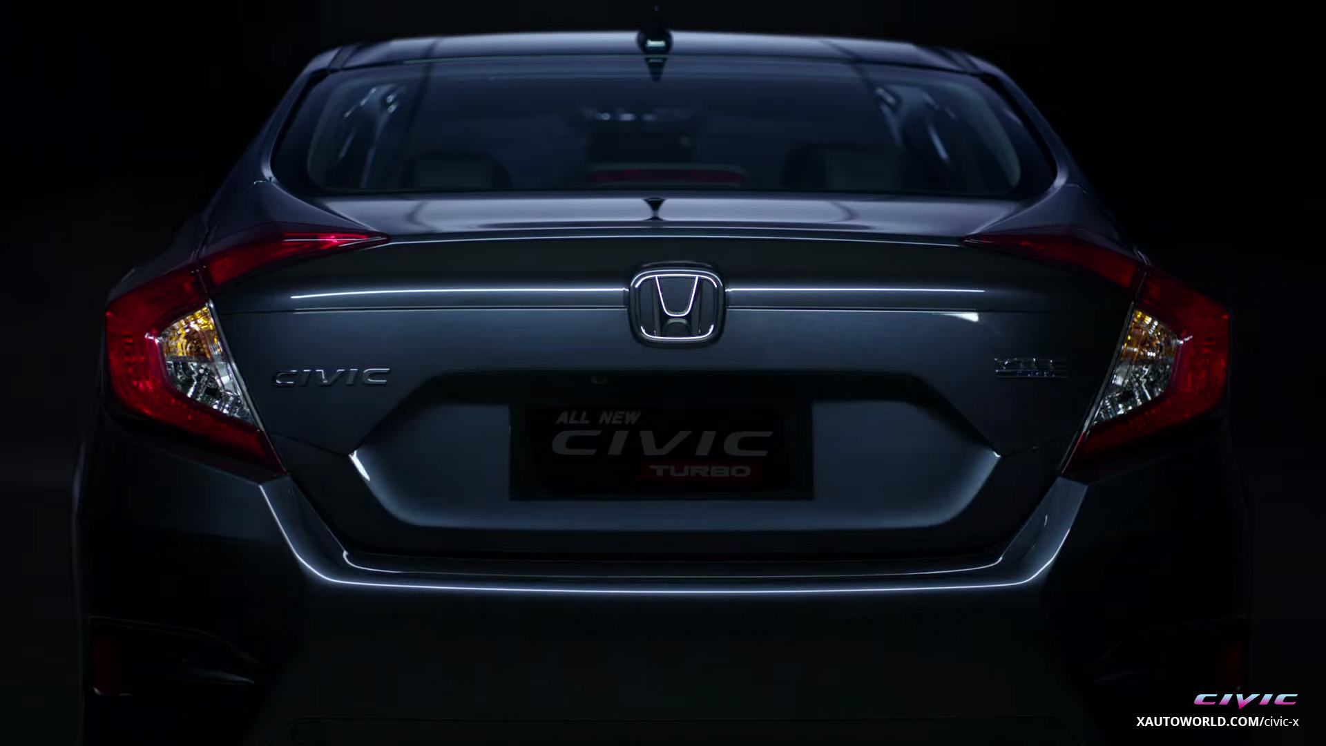 2016 Civic Turbo Rear View