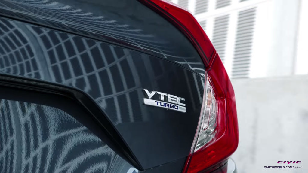 2016 Civic Tail Light With VTEC Turbo Badge