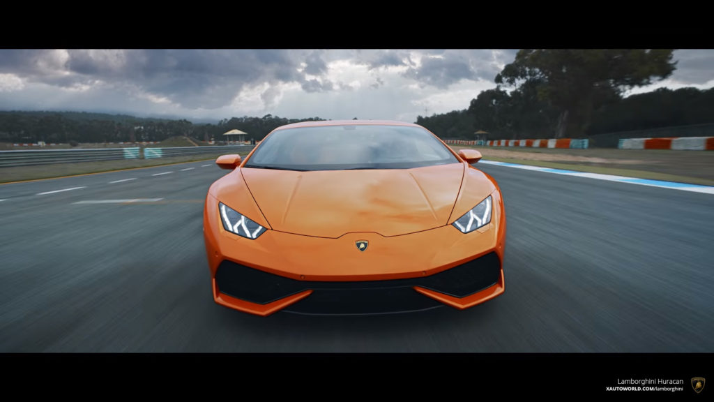 Orange Huracan Superb Front View