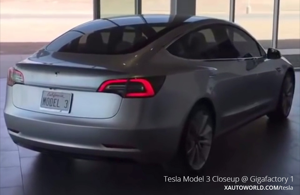 Tesla Model 3 Closeup Video