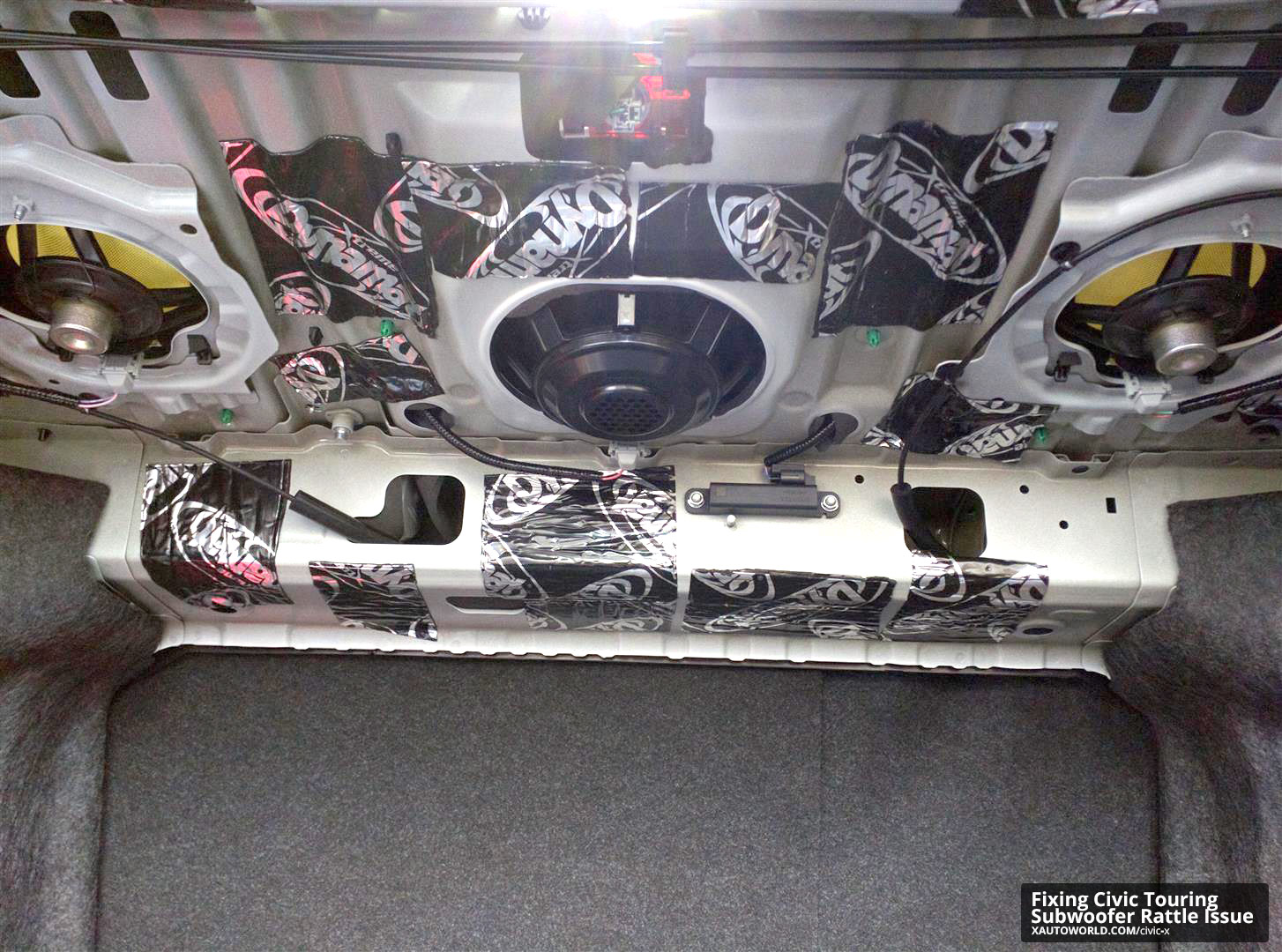 Fixing The 10th Gen Civic Touring Subwoofer Rattle Issue