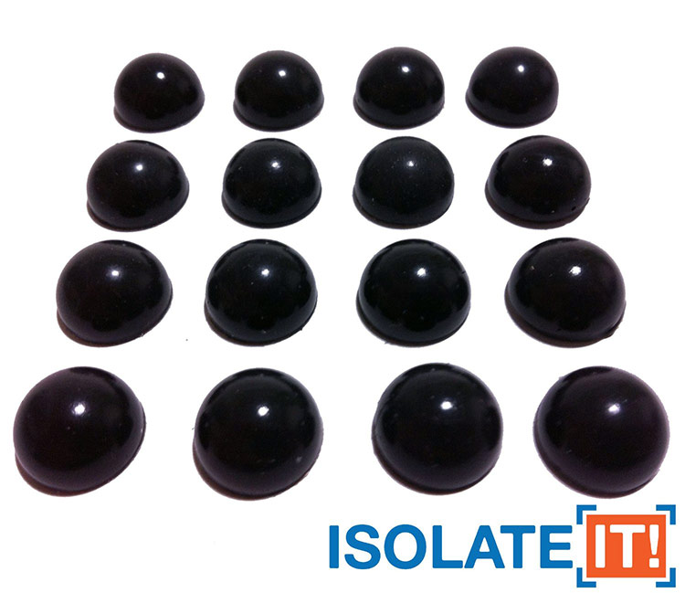 Isolate-IT Sorbothane Hemisphere Rubber Bumpers
