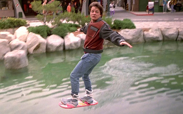 Marty McFly Riding Hoverboard In Back To The Future