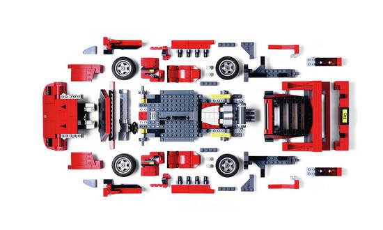 2016 Ferrari F40 Lego Model