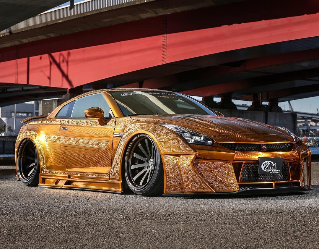 One Million Dollar Gold Plated Car Nissan Gt R X Auto News