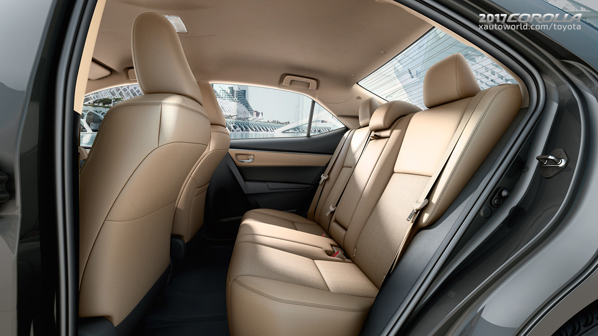 2017 Toyota Corolla Interior Rear Seats