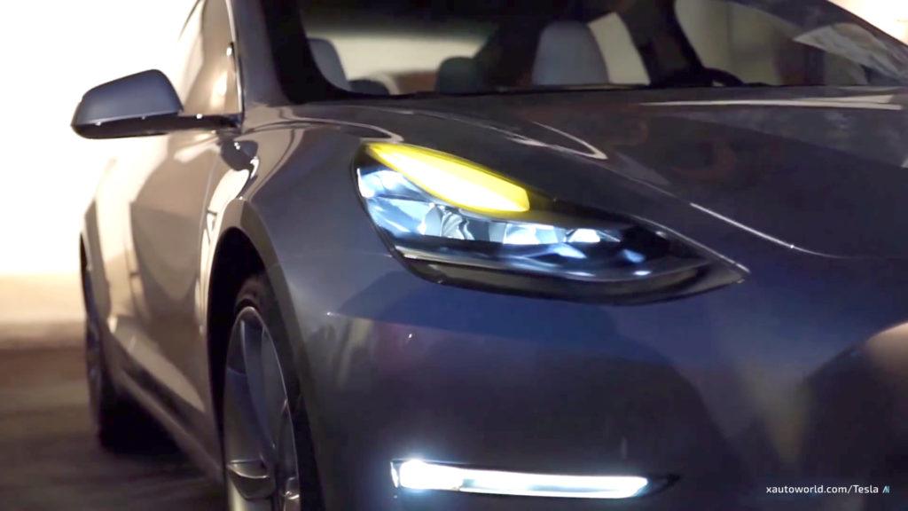 Exclusive Model 3 HD Photos - Headlight Closeup