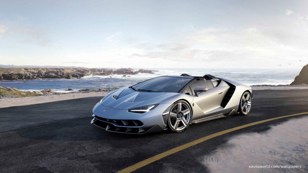 Centenario Roadster Wallpaper - Gray Front