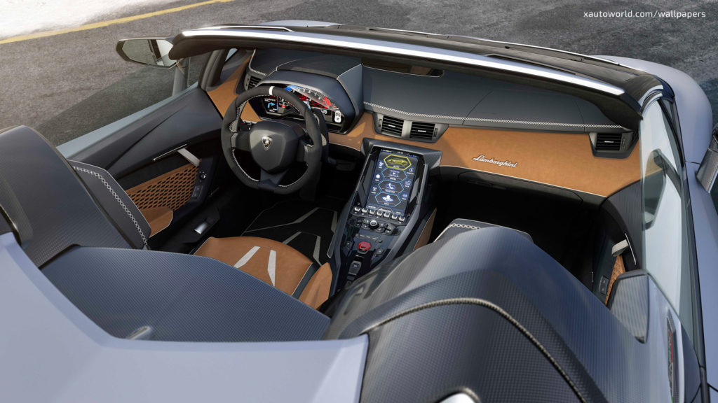 Centenario Roadster Wallpaper - Orange Interior