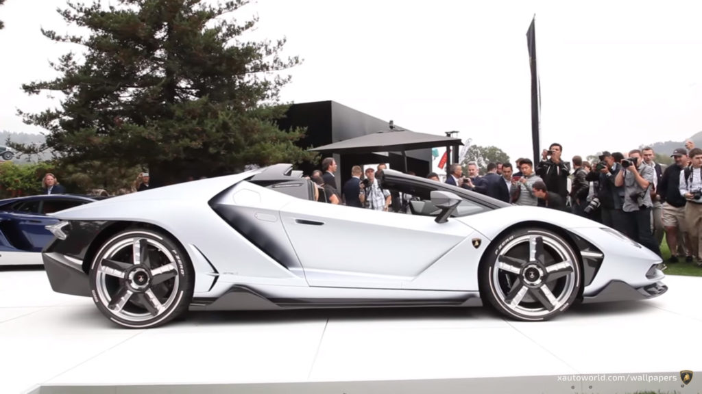 Centenario Roadster Wallpaper - Silver Side View