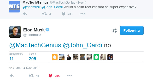 Elon Musk Reply To Solar Roof Cost
