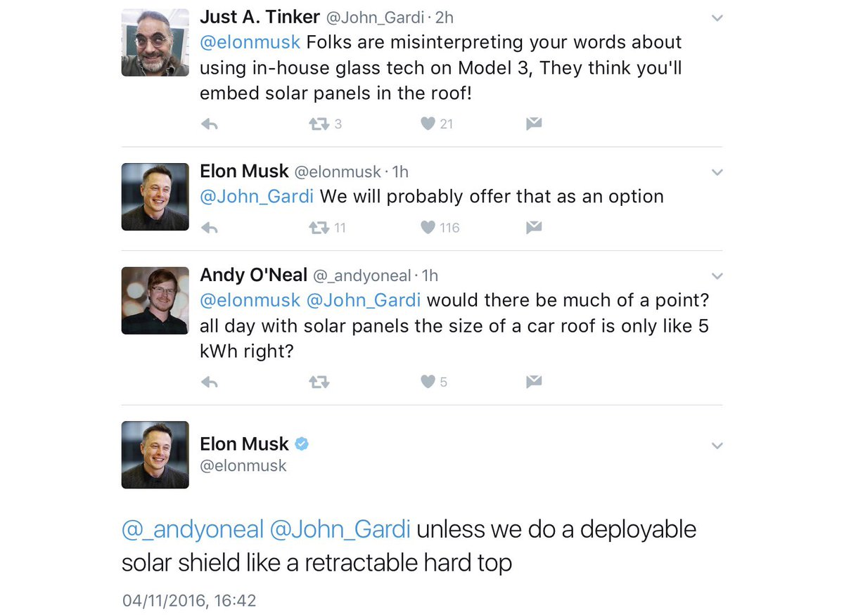 Elon Tweets About Solar Roof Model 3