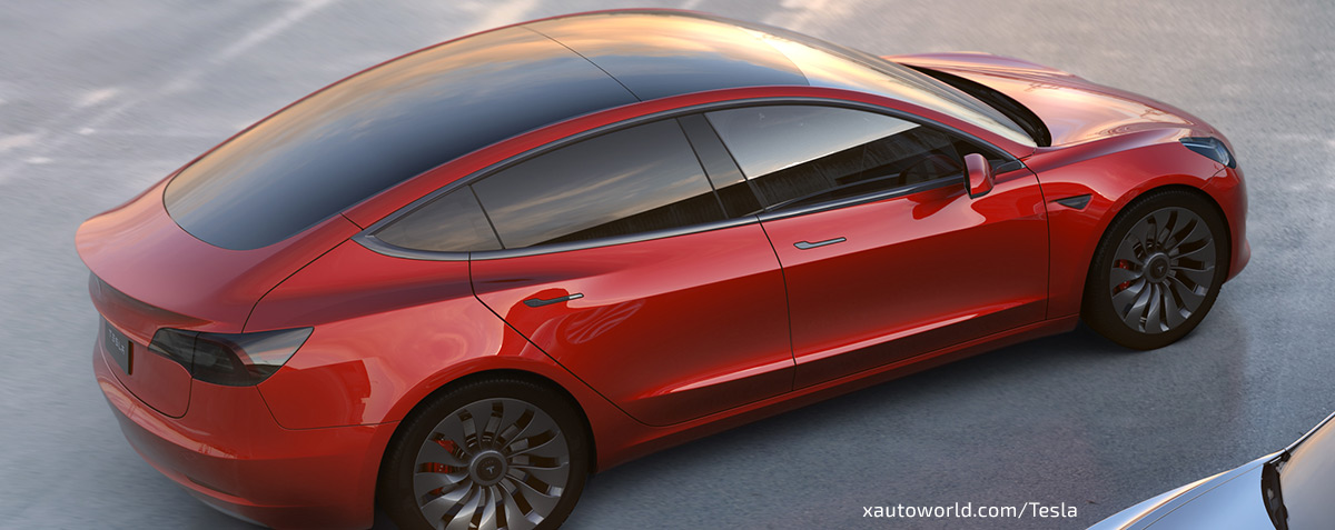 Tesla Model 3 - Signature Red