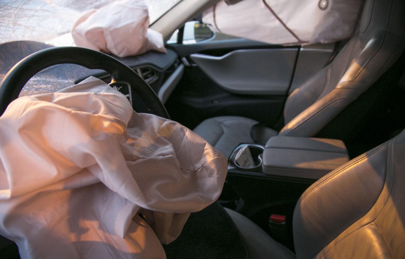 Tesla Model S Safety - Cabin After Crash