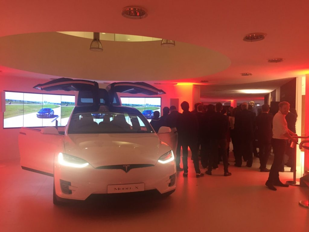 Model X in Chiswick London Showroom