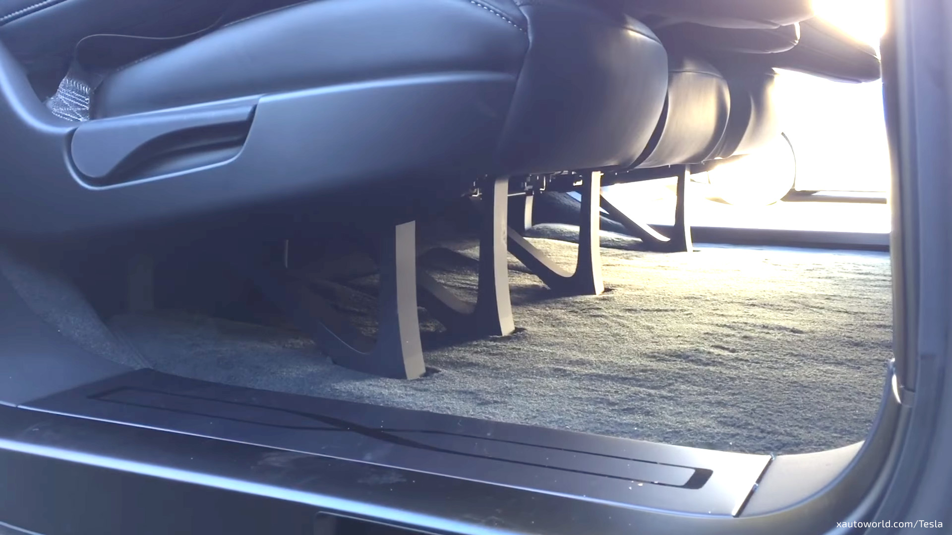 Model X 5 Seat Configuration Cargo Space With Folding