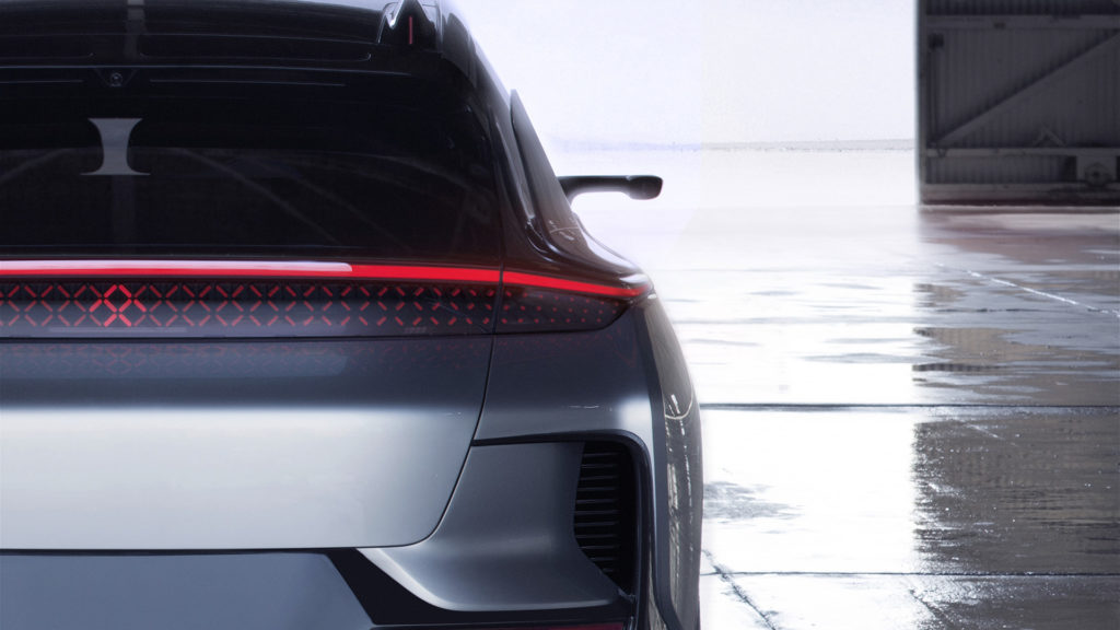 Farday Future's FF 91 - Rear Lights Closeup