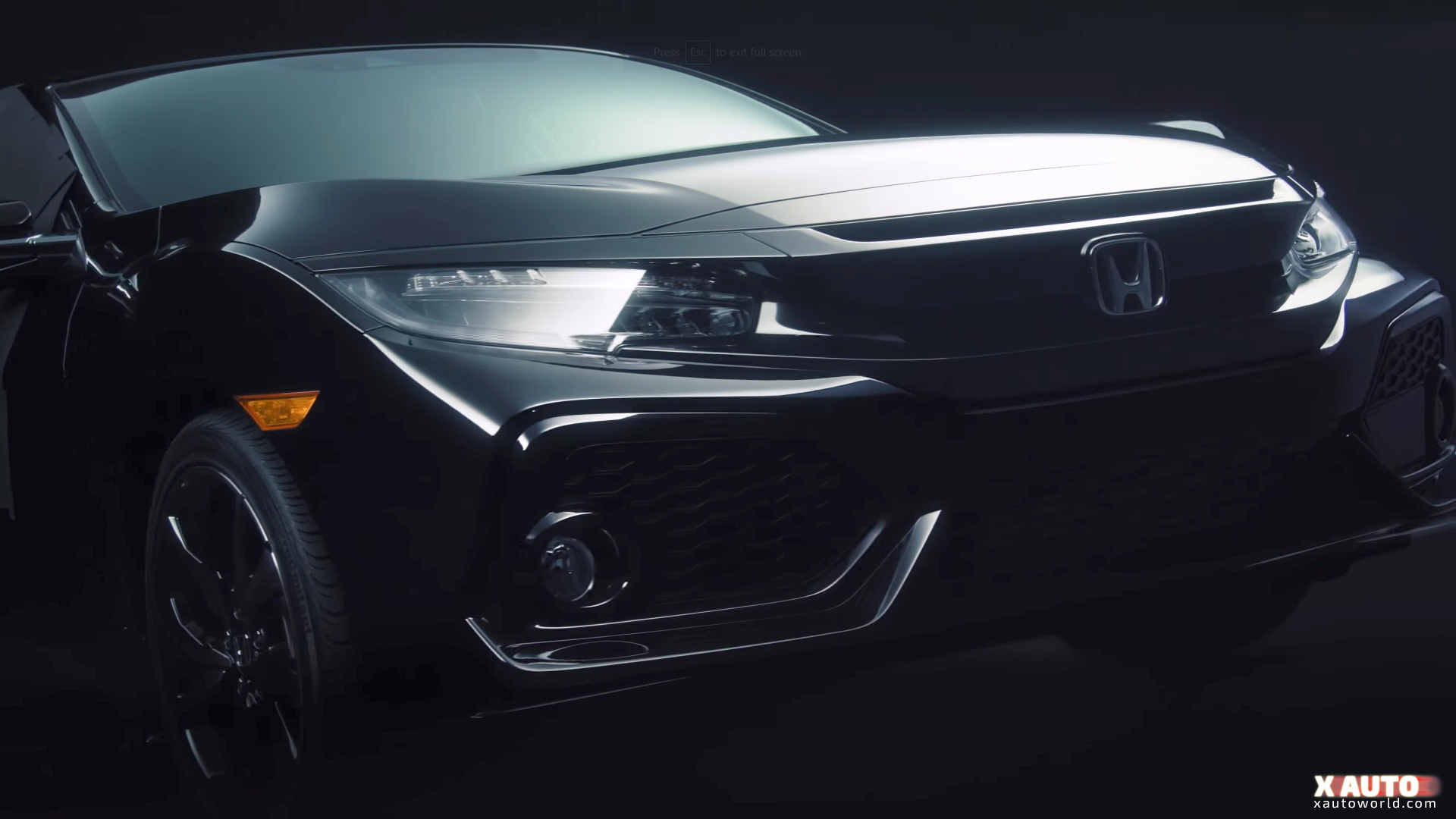 Civic X Hatch Front Down