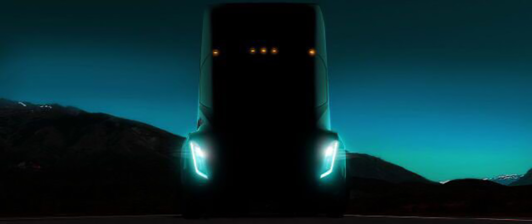First Teaser Photo of the Tesla Semi Truck