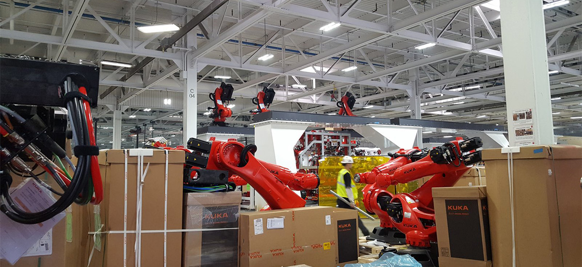 Kuka Robots Model 3 Factory