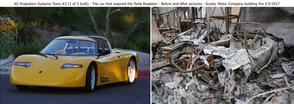 tZero before and after the fire at Gruber Motor Company