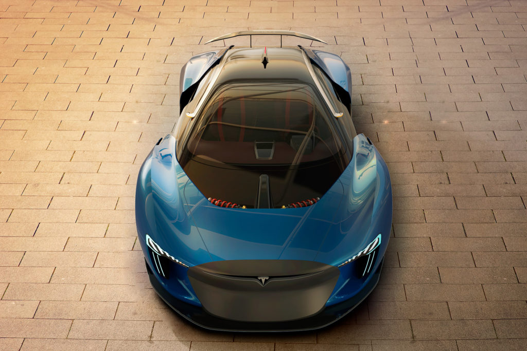 Tesla Model EXP Concept - Front View