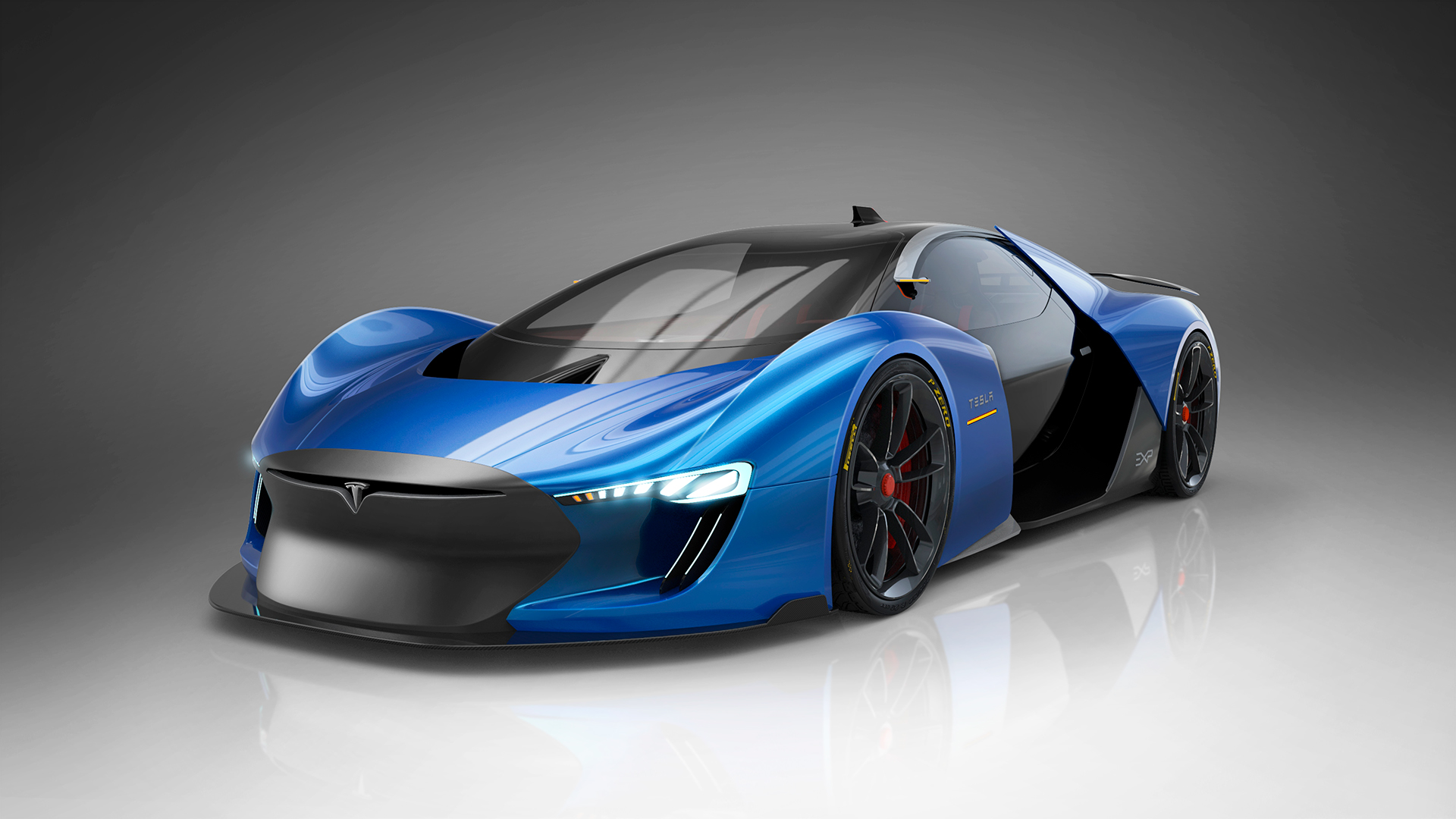 Designer's Vision Of An Electric Supercar The 'Tesla Model