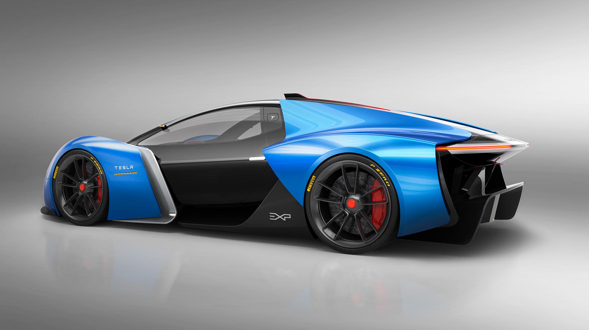 Designer's vision of an Electric Supercar the 'Tesla Model ...