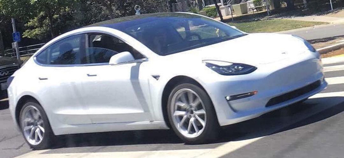 New Close Encounter Spy Shots Of The White Tesla Model 3