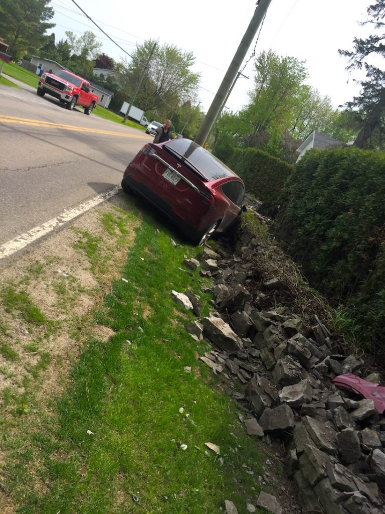 The only Founder Series Tesla Model X crashed in eastern Canada