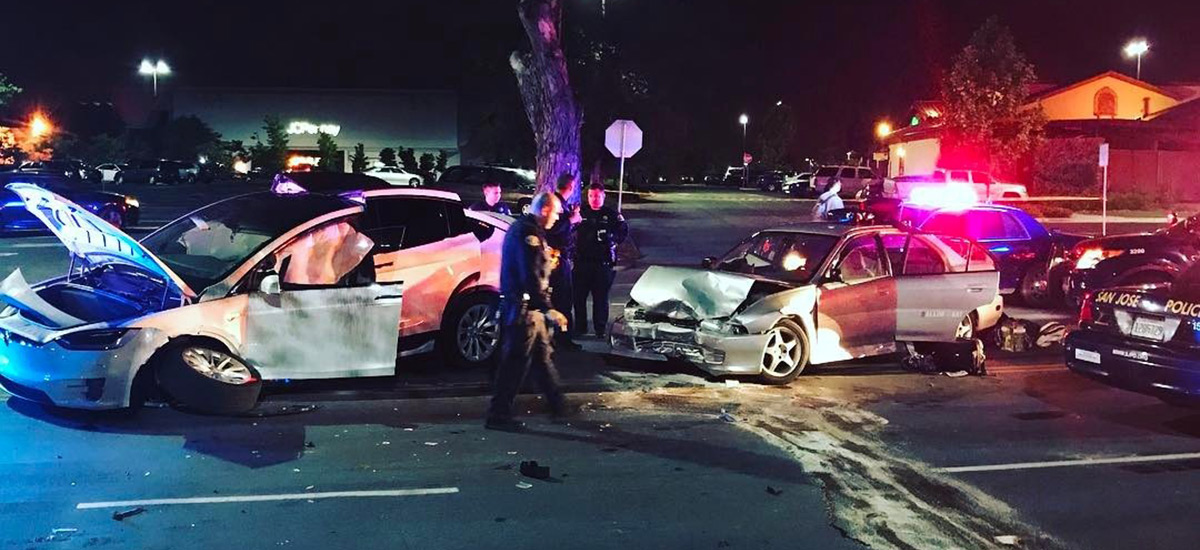 Man survives a fatal crash credits Model X