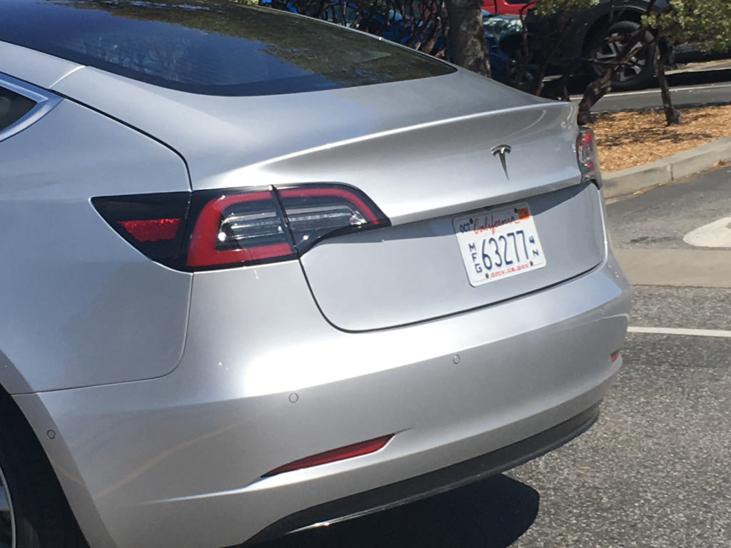 Sliver Model 3 leaked photos from Tesla HQ - Side Windows Closeup