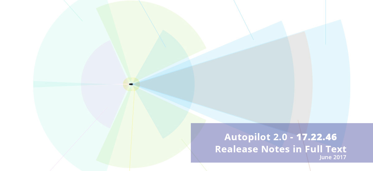 Tesla Autopilot 2.0 update 17.22.46 release notes in full text