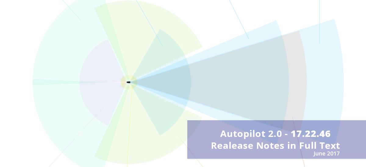 Tesla Autopilot 2.0 update 17.22.46 release notes in full text