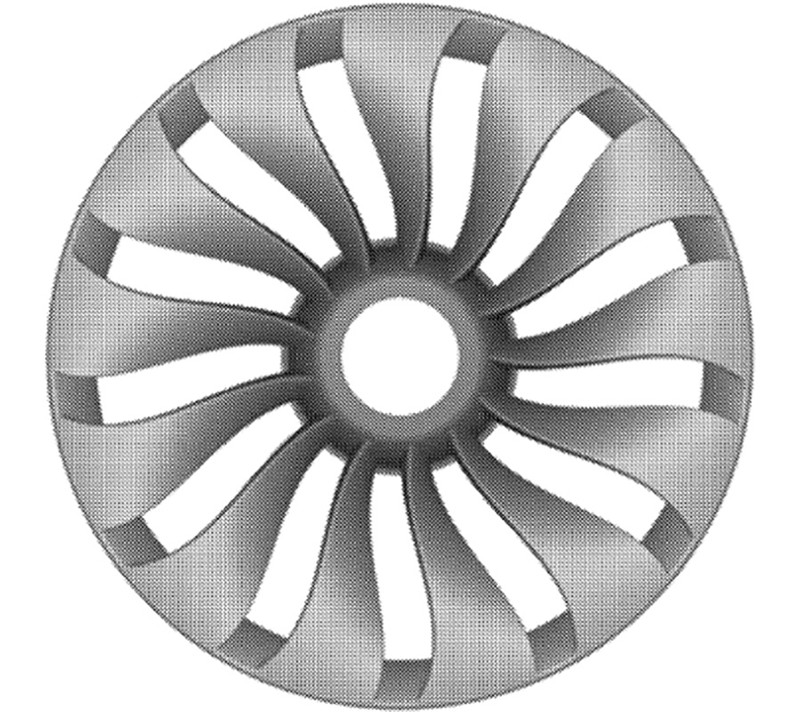 Tesla Model 3 Patented Wind Turbine Wheel Design