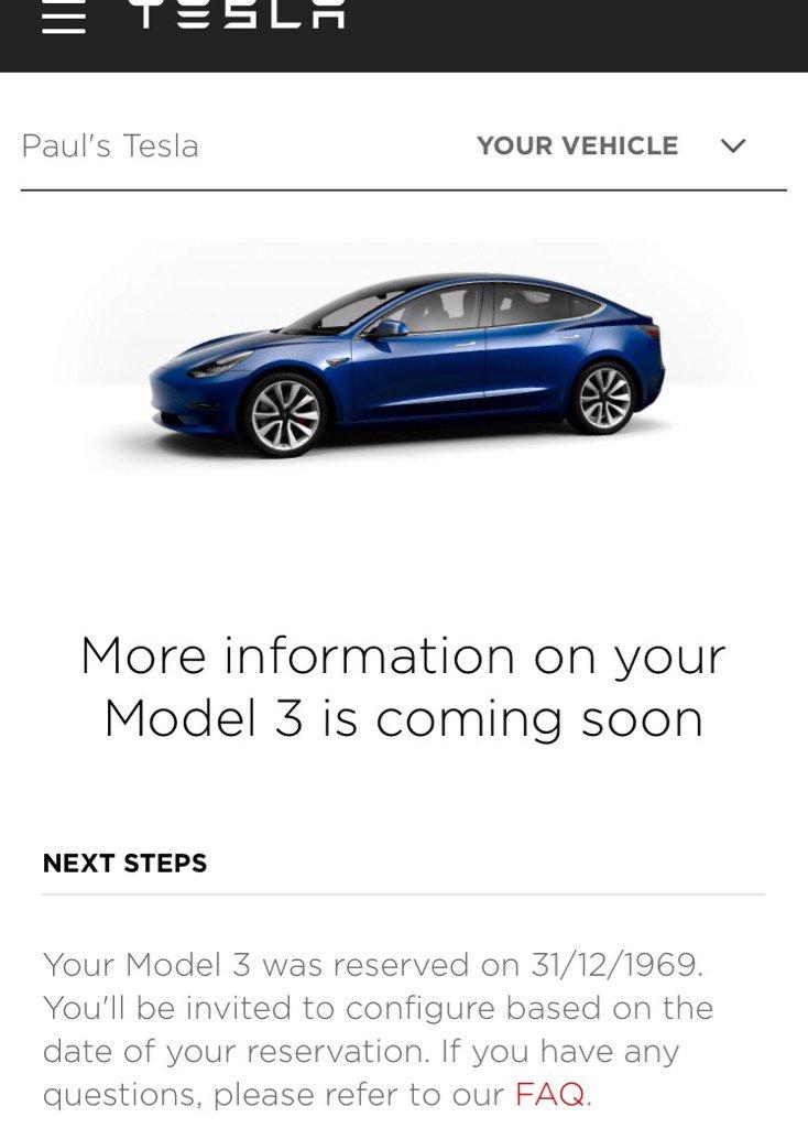 Tesla Model 3 configurator to go live soon