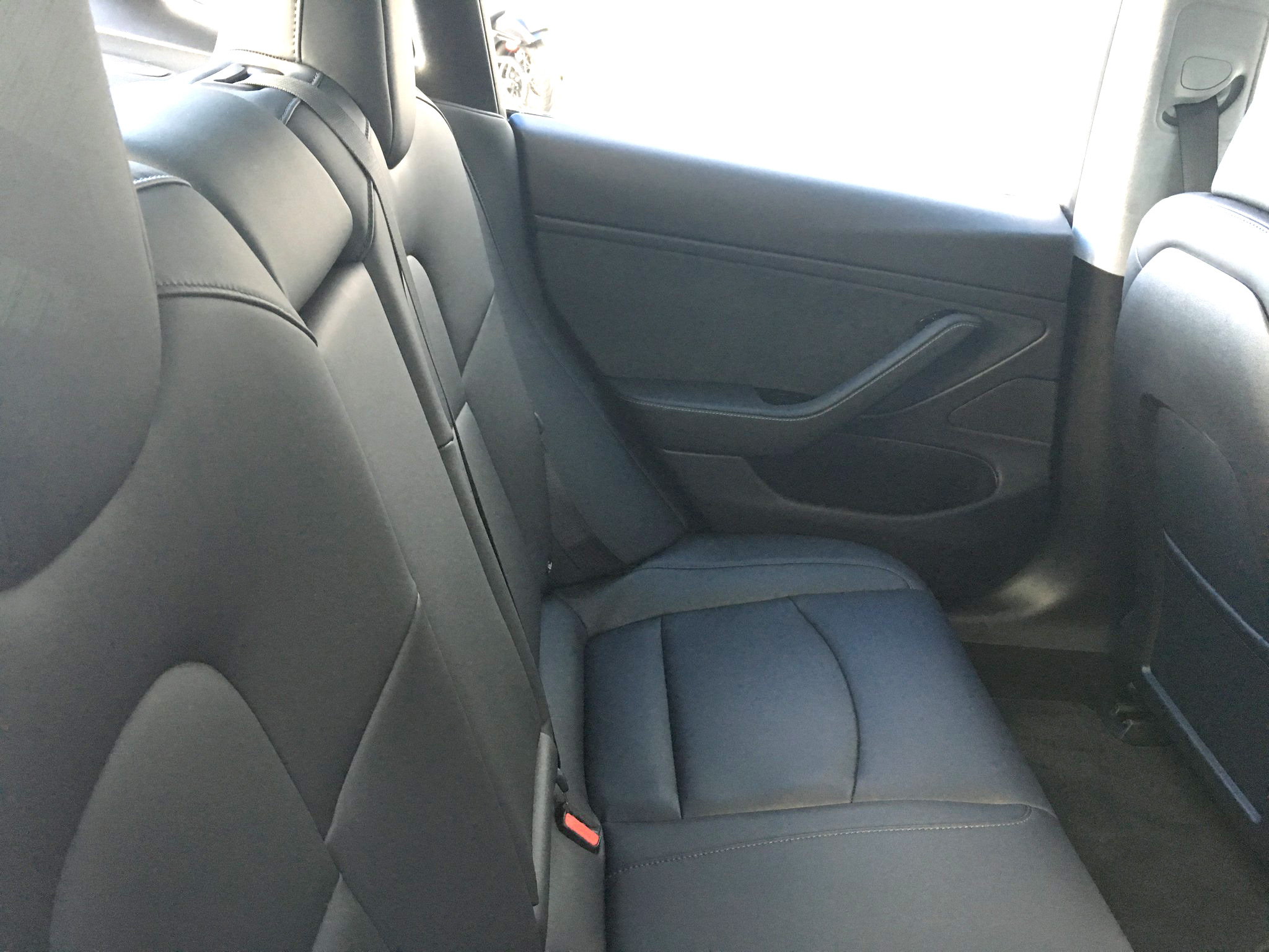 Tesla Model 3 Rear Seats Clear Picture