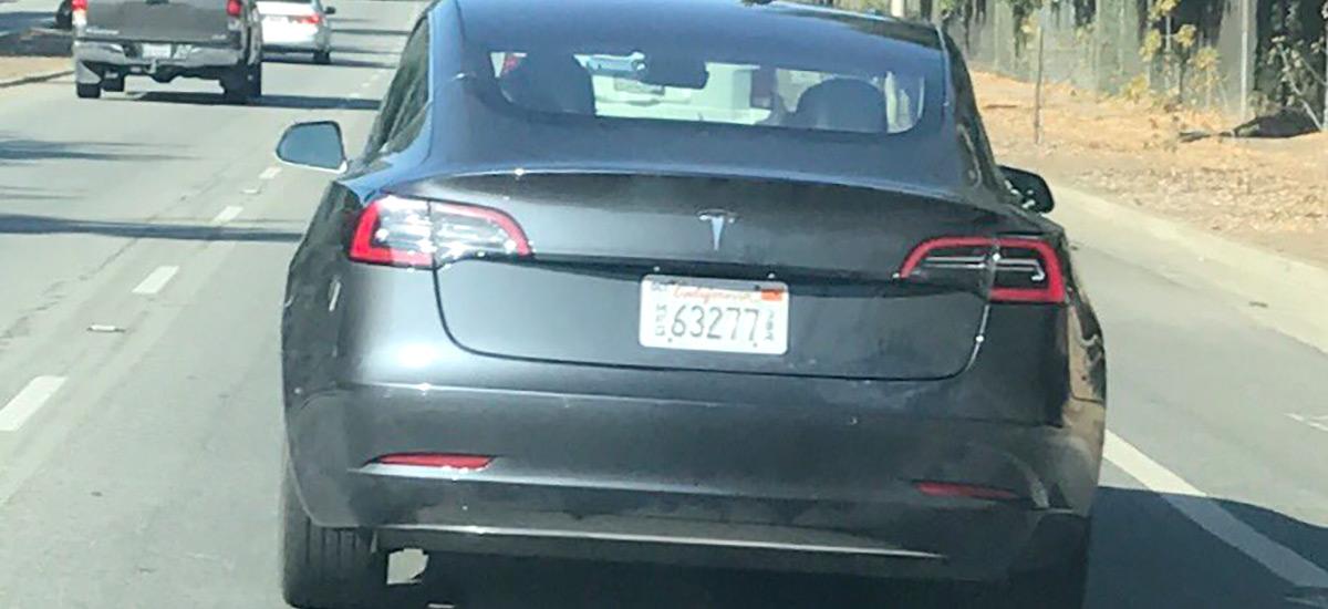 Tesla Model 3 Gray Spotted