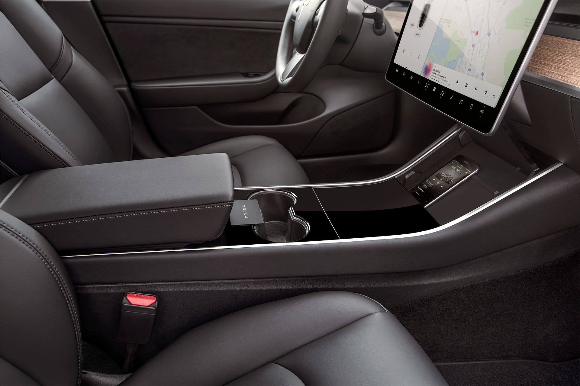 Tesla Model 3 Official Hd Photos Show Mobile App And Key