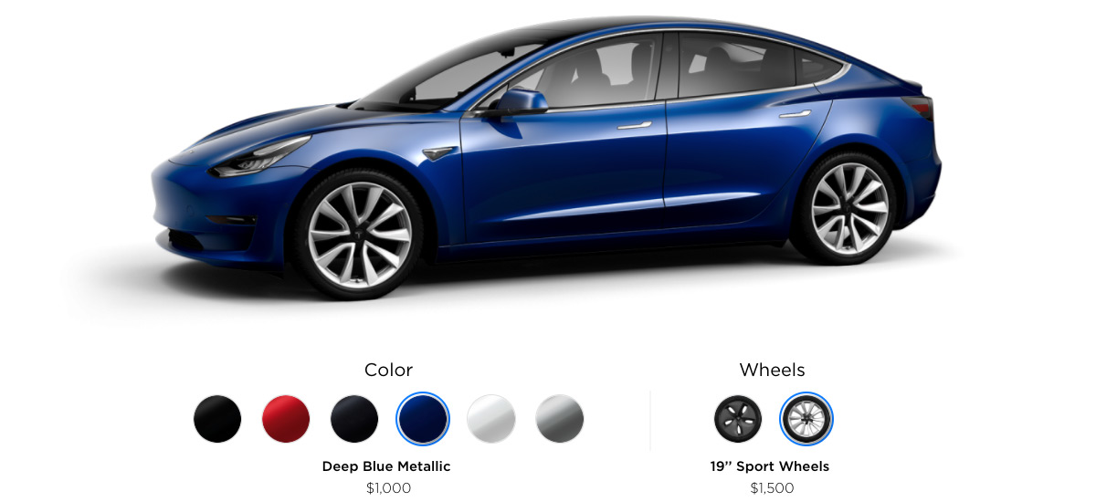 an in depth look at the tesla model 3 configurator x auto rh xautoworld com