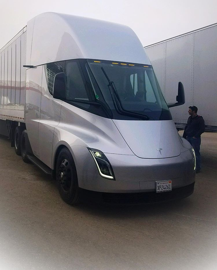 First Cargo Trip Of The Tesla Semi From Gigafactory 1 To