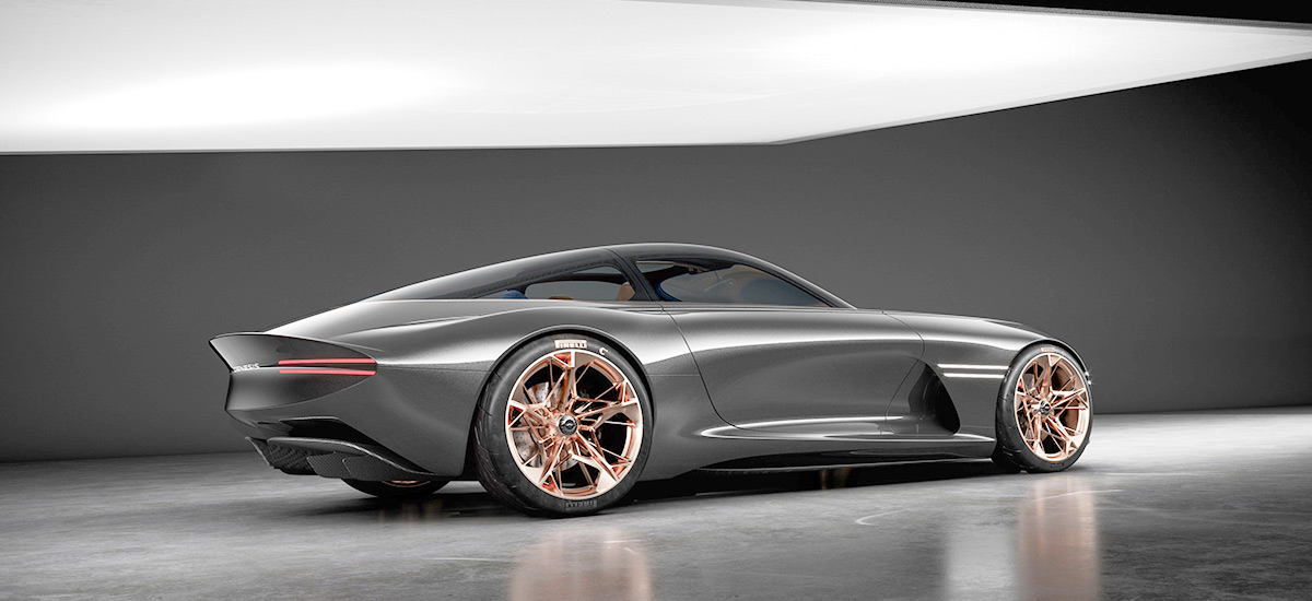 Luxury Electric Vehicle - Genesis Essentia Concept at New York International Auto Show
