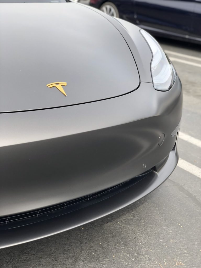 Car Wrap Cost >> This satin gray 3M wrap turns Tesla Model 3 into a rock star