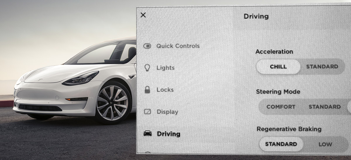 tesla model 3 software update