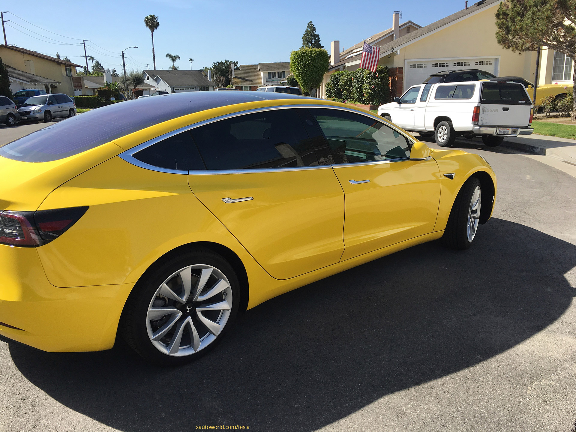 Yellow Tesla Model 3 That Rocked Reddit Now With Tinted
